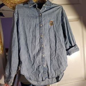 Vintage Ralph Lauren chambray button up